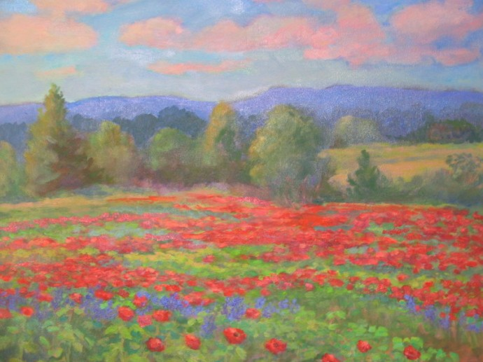 "Poppies in Provence - 20"" x 24"""