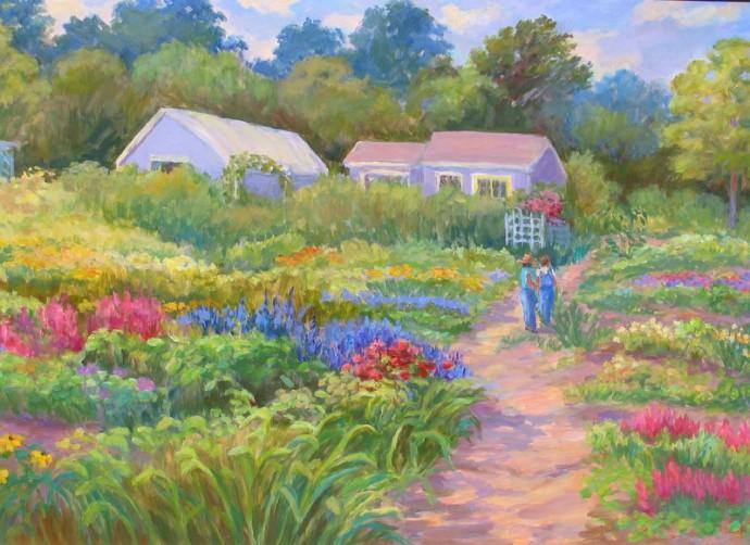 """The Flower Farm - 24"""" x 36"""""""