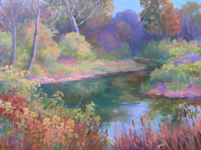 "October on Mill Creek - 30"" x 40"""
