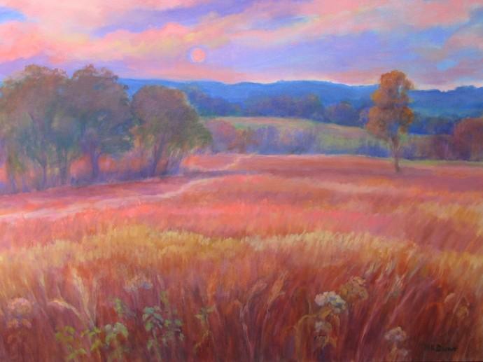 """Prairie Sunset - 30"""" x 40"""""""