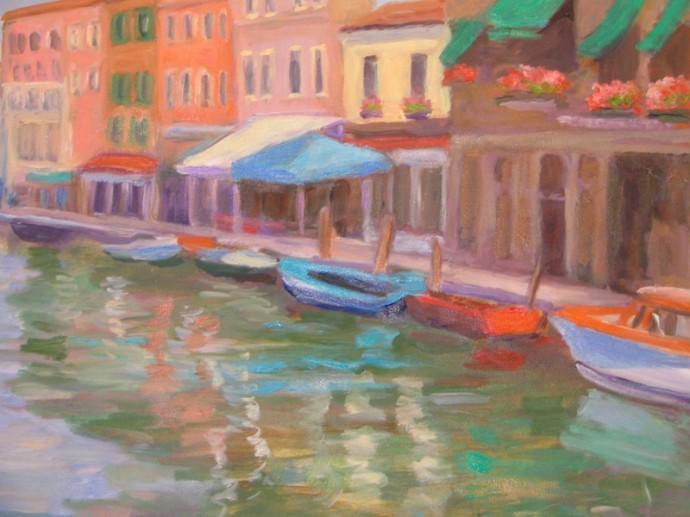 "Afternoon in Murano, Italy - 16"" x 20"""