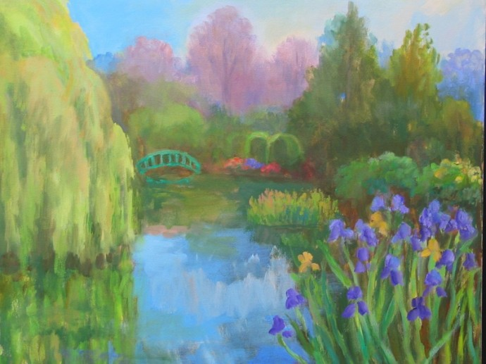 "Giverny Reflections - 20"" x 24"""